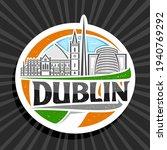 vector logo for dublin  white...   Shutterstock .eps vector #1940769292