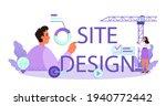 web site design typographic...