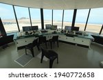 Small photo of ST HELENA - OCTOBER 12, 2015: The nearly complete air traffic control tower at St Helena's first international airport