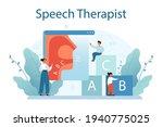 speech therapist concept.... | Shutterstock .eps vector #1940775025