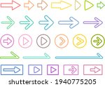 Colorful Line Art Arrow Icon...