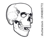 engraving style skull with open ...   Shutterstock .eps vector #1940805772