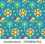paper windmill children... | Shutterstock .eps vector #1940806762