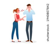 family people quarrel  angry... | Shutterstock .eps vector #1940807842