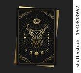 bull or taurus magic witchcraft ... | Shutterstock .eps vector #1940813962