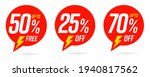 50 percent free  25 and 70...   Shutterstock .eps vector #1940817562