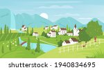 rural mountain landscape and...   Shutterstock .eps vector #1940834695