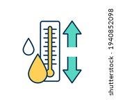 body temperature regulation rgb ... | Shutterstock .eps vector #1940852098