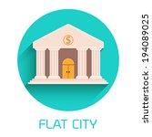 flat bank vector illustration  | Shutterstock .eps vector #194089025