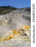 A Sulfurous Fumarole In The...