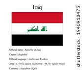 iraq national flag  country's...   Shutterstock .eps vector #1940913475
