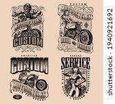 custom motorcycle vintage... | Shutterstock .eps vector #1940921692