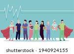 nurses team healthcare heroes... | Shutterstock .eps vector #1940924155