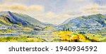 Watercolor Landscape Painting...