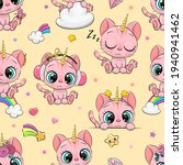 seamless pattern with cute... | Shutterstock .eps vector #1940941462