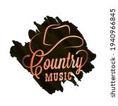 country music watercolor logo.... | Shutterstock .eps vector #1940966845