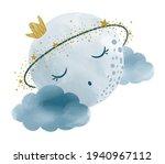 vector watercolor hand drawn... | Shutterstock .eps vector #1940967112