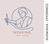 weaving vector logo design.... | Shutterstock .eps vector #1941004612