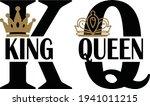 king and queen logo design...   Shutterstock .eps vector #1941011215