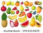 berries and fruits vector... | Shutterstock .eps vector #1941015655
