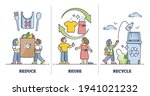 reduce  reuse  recycle as...   Shutterstock .eps vector #1941021232