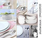 Collage Of White Tableware