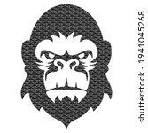 Monkey Head With 3d Pattern...