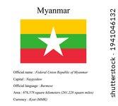 myanmar national flag  country...   Shutterstock .eps vector #1941046132