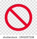 prohibition symbol on a... | Shutterstock .eps vector #1941057238