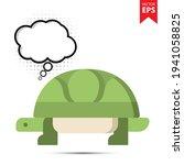 cute cartoon turtle with...
