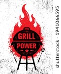 grill power barbeque. outdoor... | Shutterstock .eps vector #1941066595
