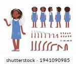 little girl character... | Shutterstock .eps vector #1941090985