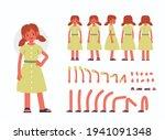 little girl character... | Shutterstock .eps vector #1941091348
