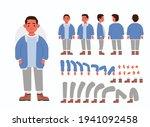 little boy character... | Shutterstock .eps vector #1941092458