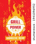 grill power barbecue menu.... | Shutterstock .eps vector #1941096952