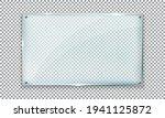 glass plate on transparent... | Shutterstock .eps vector #1941125872