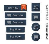 buy now buttons set. flat... | Shutterstock .eps vector #194113598