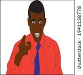 vector illustration  black man ... | Shutterstock .eps vector #1941138778