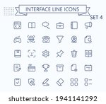 interface vector outline mini...
