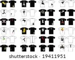 t shirt design elements | Shutterstock .eps vector #19411951
