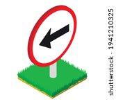 left turn icon. isometric... | Shutterstock .eps vector #1941210325