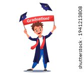 young cheerful graduate boy in... | Shutterstock .eps vector #1941213808