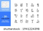 line icons about alcoholic...   Shutterstock .eps vector #1941224398