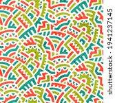 seamless vintage pattern in... | Shutterstock .eps vector #1941237145