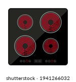 induction stove cooker electric ... | Shutterstock .eps vector #1941266032