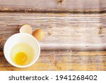 A Top View Of Fresh Egg Yolk...