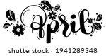 hello april. april month vector ... | Shutterstock .eps vector #1941289348