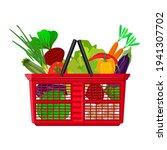 shopping basket full of fresh... | Shutterstock .eps vector #1941307702