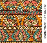 seamless pattern with aztec...   Shutterstock .eps vector #194132642