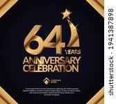 64 years anniversary... | Shutterstock .eps vector #1941387898